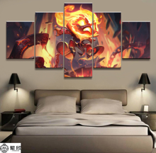 Home Decor Modular Canvas Picture 5 Piece Amumu League of Legends LOL Game Painting Poster Wall For Wholesa