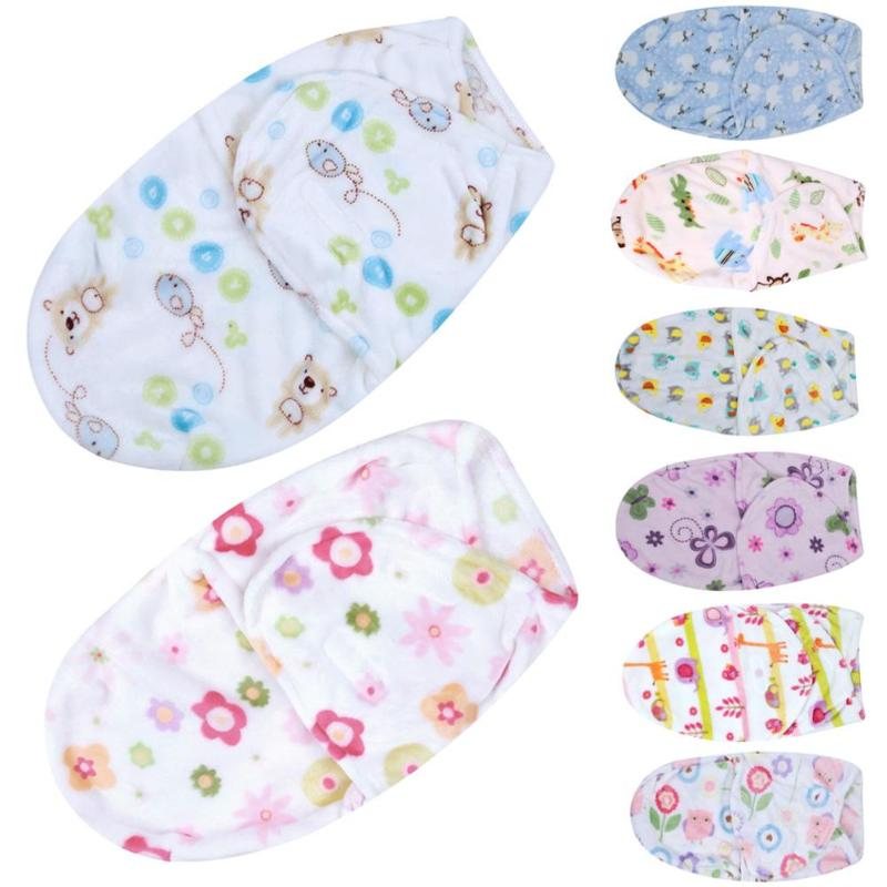 Baby Swaddle Wrap Soft Envelope Baby Blankets Newborn Swaddle Wrap Infant Sleeping Bag Warm Baby Bedding Quilt Photography Props