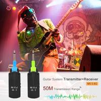 M5 5.8G Wireless Guitar System Transmitter+Receiver 50M Transmission Range for Acoustic Electric Guitar Bass With Black Color