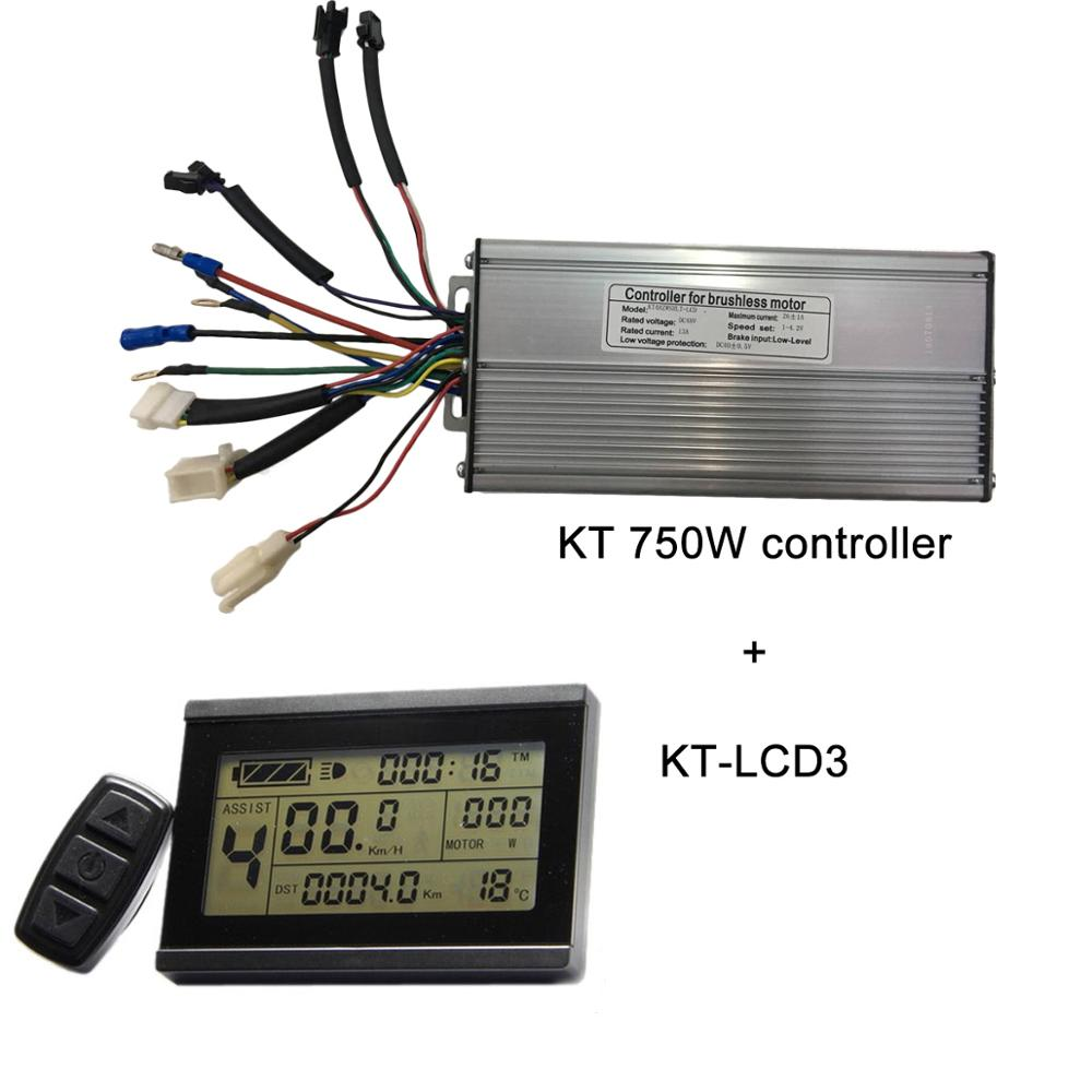 KT Controller 48V 750W or 1000W Electric bike controller with KT LCD display
