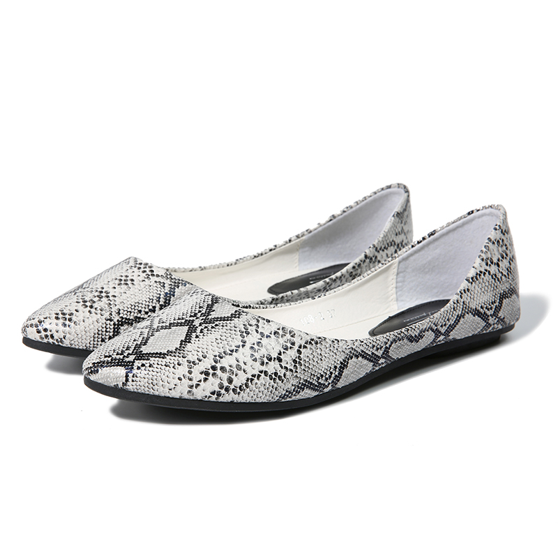 637d0a7ba434a NIS Women Snakeskin Ballet Flats, Pointed Toe Flat Shoes For Ladies, Male  Casual Slip On Shoes, Comfort Loafers, Zapatos Mujer