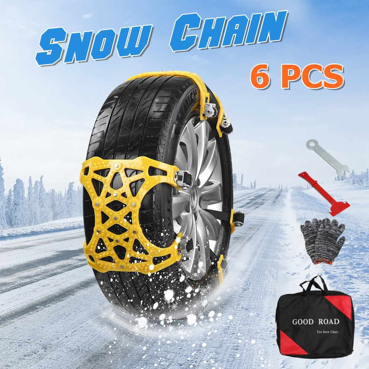Automobiles & Motorcycles 3x Tpu Plastic Snow Chains Spikes For Tires Universal Car Tyre Winter Roadway Safety Chains Snow Climbing Mud Ground Anti Slip Comfortable Feel