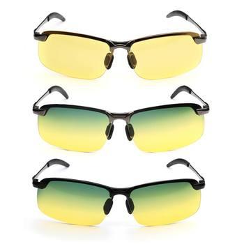 042a9dd15 UV400 de aleación de conducción Anti-Glare UV400 polarizado Día de la visión  nocturna gafas de sol de senderismo al aire libre ciclismo gafas de  protección, ...