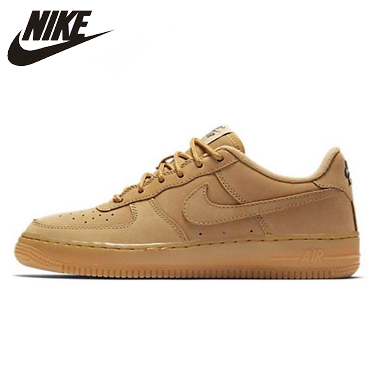 Nike Air Force 1 AF1 Breathable Men's Skateboarding Shoes Wheat Low Outdoor Sports Sneakers #888853-200