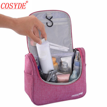 Cosyde Portable Women Makeup Bag Organizer For Handbag Polyester Travel Cosmetic Bag For Make Up Men Toiletry Kit Zipper Pouch fashion women cosmetic bag watermelon plush zipper make up pouch bag for travel necessary storage bag