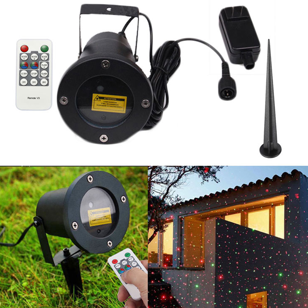Access Control Trend Mark Waterproof Outdoor Moving Full-sky Christmas Laser-projector Lamp Green&red Stage Light With Remote Control Garden Light Security & Protection