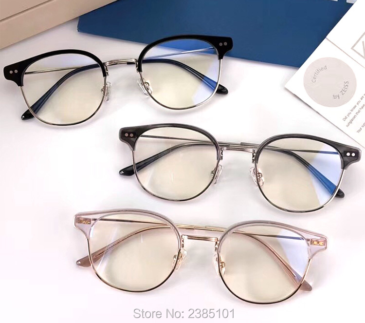 Gentle Classic Optics Glasses Frame Prescription Myopia Eyeglasses Half Frame Computer Women Men Goggle Clear Lens