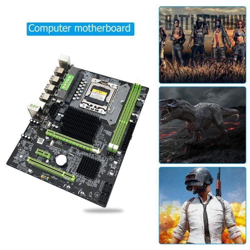 X58 Pro Desktop Computer PC Motherboard LGA 1366 DDR3 USB2.0 SATA2.0 Support For Xeon X5675 X5680 X5690 REG ECC Memory Wholesale