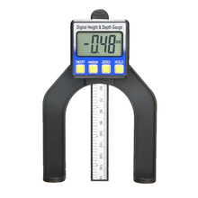 1pc Measuring Range 0-80mm LCD Digital Height Depth Gauge Slide Caliper Vernier Ruler Measuring Tools for Woodworking Router