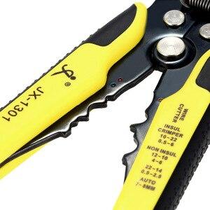 Image 4 - JX1301 Cable Wire Stripper Cutter Crimper Automatico Multifunzionale Stripping Tools Pinze di Piegatura Terminale di 0.2 6.0mm strumento mano