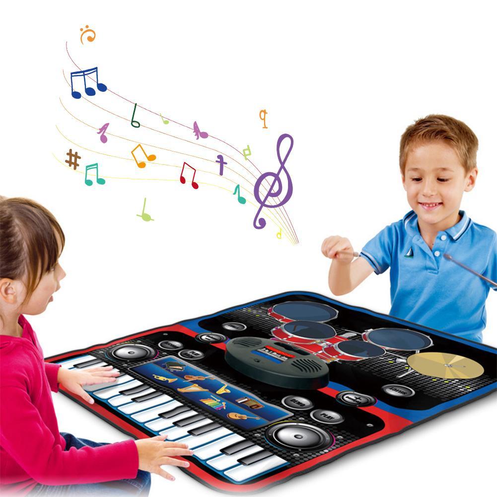Tapis de danse électrique pour enfants maison multifonctionnel Jazz tambour électrique Piano éducation précoce Puzzle musique jeu tapis couverture