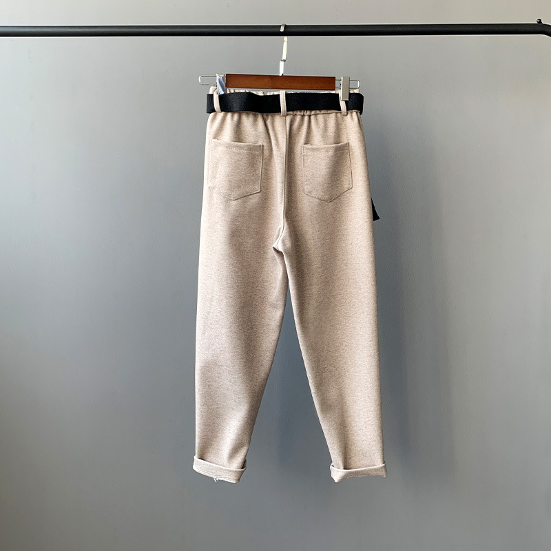 pu Pantalon noir bleu Beige Ladies'trousers style Ming Rétro Wm03t 4 Ciel Cloche qtxvF7wFf