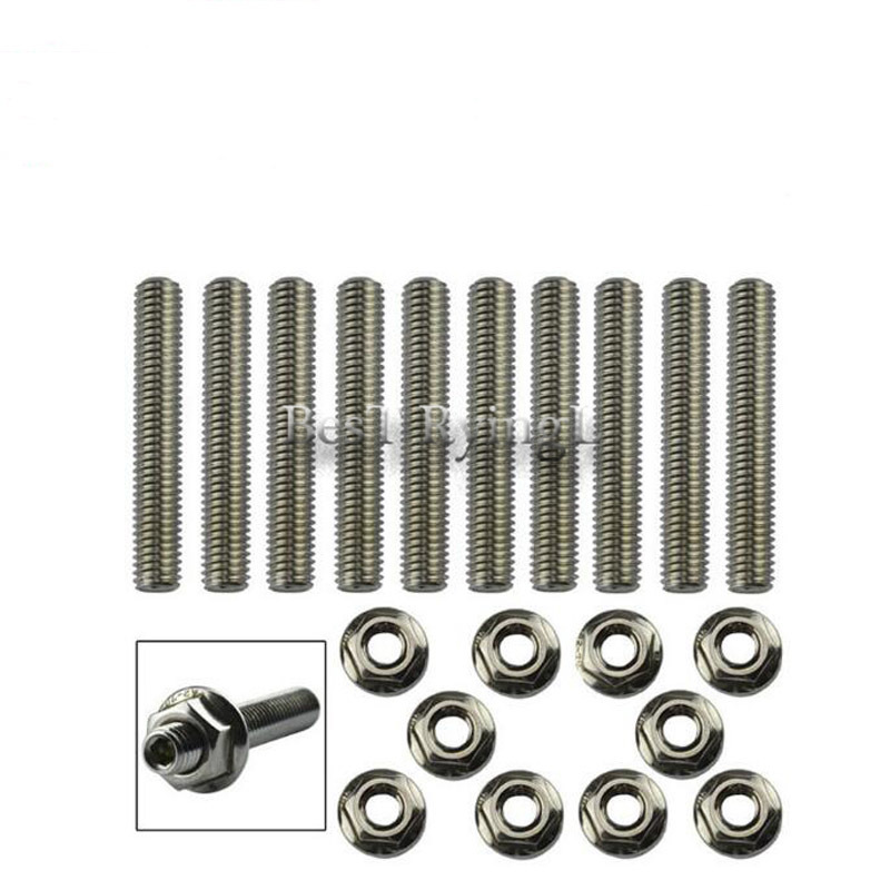 Intake Manifold Delicious Y Car Extended Stud Intake Manifold Bolt Kit Stainless Steel Bolt Kit For Ho-nda B/c/d/f/h/k Series Automobiles Air Intake Parts Extremely Efficient In Preserving Heat
