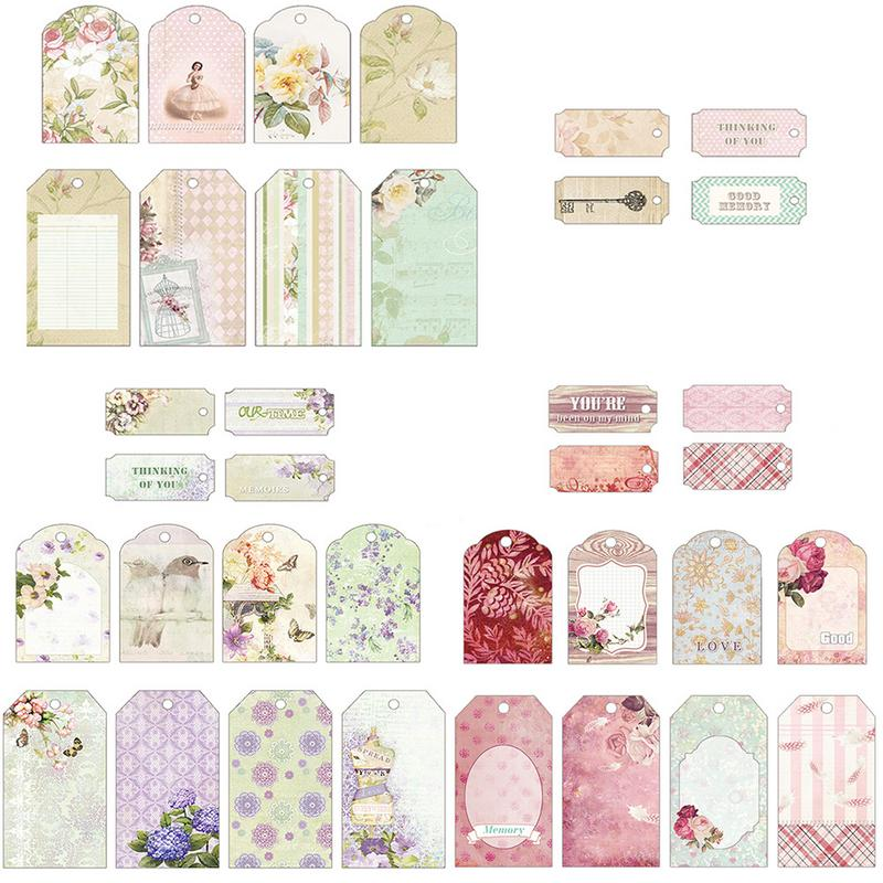 12PCS Craft Scrapbook Paper Craft Paper Label Bookmark Message Card Scrapbook Handbook Handmade Card Decoration Accessories in Stickers from Home Garden