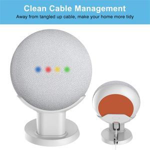 Image 2 - Dla Google Nest Mini Home Mini stojak na biurko asystenci głosowi kompaktowy uchwyt Case Plug in Kitchen sypialnia Study Audio Mount