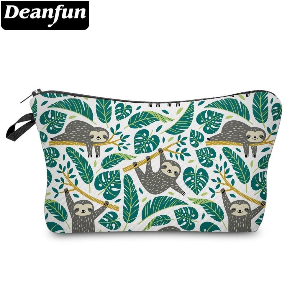 Deanfun Sloth Cosmetic Bag Waterproof Printing Swanky Turtle Leaf Toilet Bag Custom Style For Travel  51476