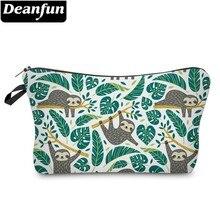 Bolsa de cosméticos Deanfun Sloth impermeable impresión Swanky hoja de tortuga bolsa de baño estilo personalizado para viaje 51476