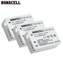 Bonacell 7.2V 1400mAh NB-10L NB10L NB 10L Batteries  for Canon G1X G15 G16 SX40HS SX50HS SX60HS SX40 SX50 SX60 HS Bateria L10 сумка для фотокамеры canon g16 g12 g15 g1x sx130 sx160 sx170 sx500is sx510