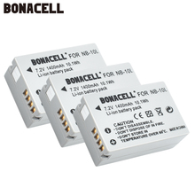 Bonacell 7.2V 1400mAh NB-10L NB10L NB 10L Batteries  for Canon G1X G15 G16 SX40HS SX50HS SX60HS SX40 SX50 SX60 HS Bateria L10 цена и фото