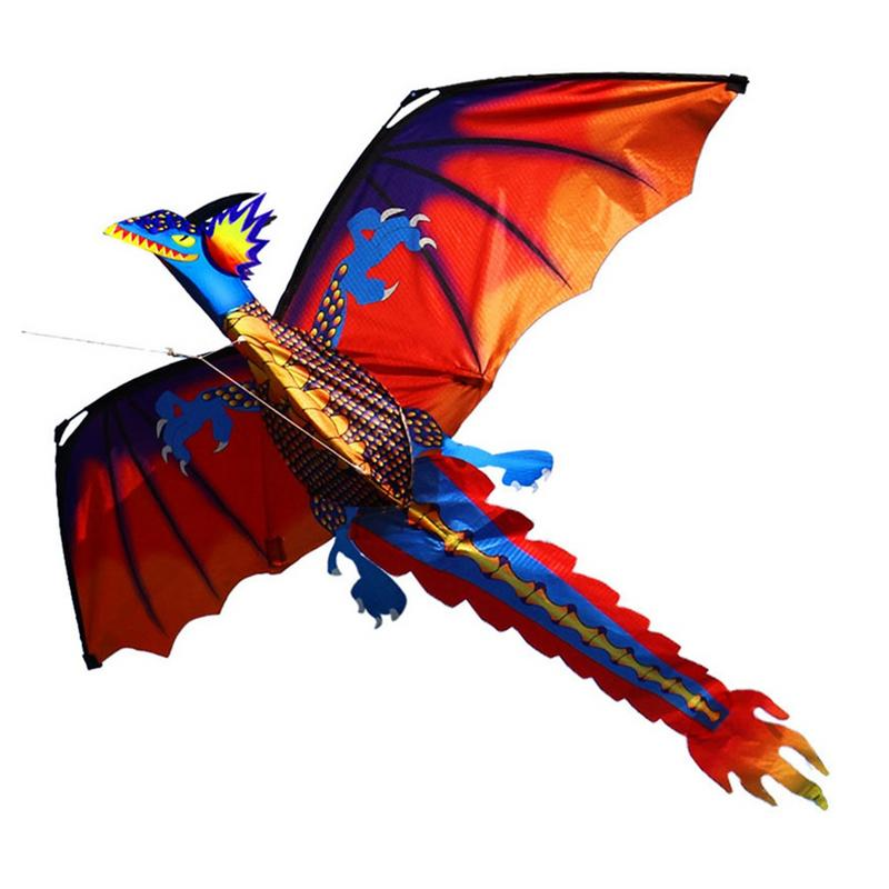 1pc 3D Dinosaur Kite Outdoor Fun Sport Toy Kite Novelty Animal Dragon Kites Children Toy High Quality Big Kite Flying