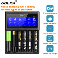 Golisi Inlife S6 2A 1A 0.5A Smart Battery Charger LCD Rechargeable Lithium ion / NiMH / NiCd