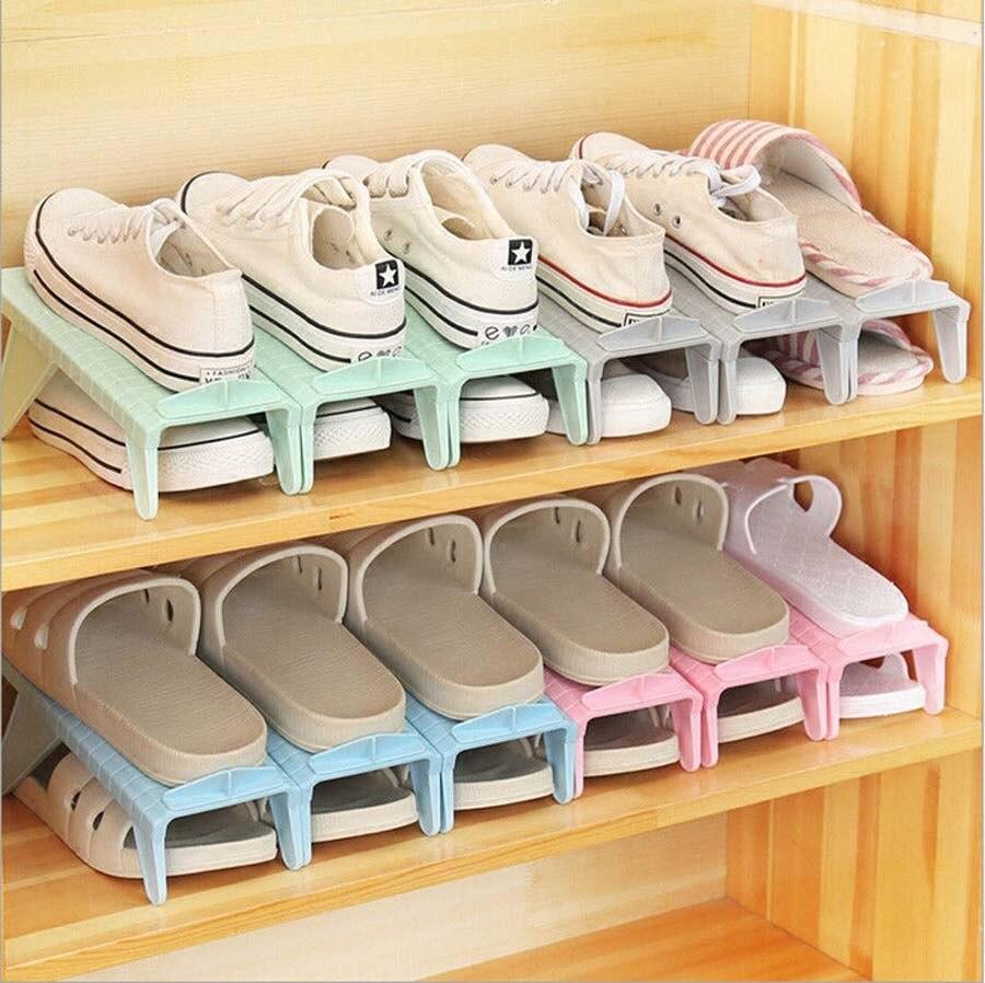 Creative Plastic Shoes Rack Organizer Space Saving Storage Adjustable Durable