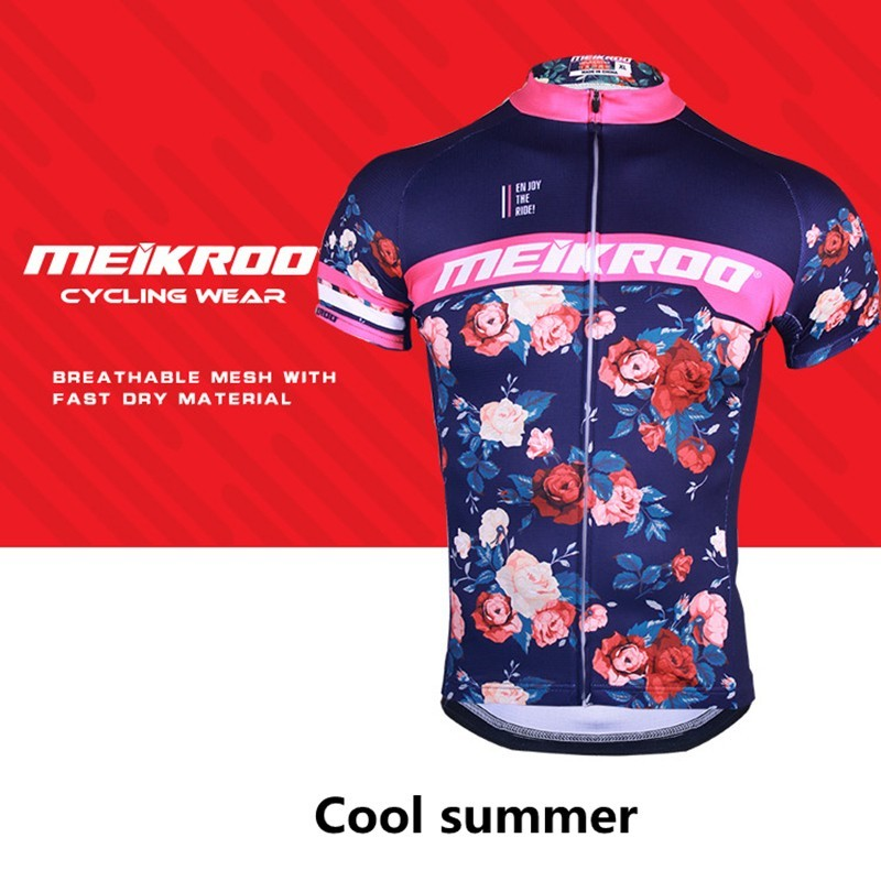 Jacket T-Shirt Cycling-Jersey Bicycle Vintage Woman Clothing Short-Sleeved Bike Summer