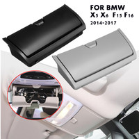 Black/Grey Car Sunglasses Case Holder Eye Glasses Box Cage Clip Organizer Plastic Storage Box For BMW X5 X6 F15 F16 2014 2017