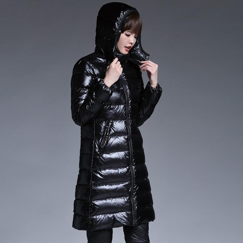 274 Manteau Long Plumes Femmes Épais Mode Black Hiver Étoiles Le Pardessus Bas Parka Femelle Veste Avec 2018 Slim De xTO6qBF