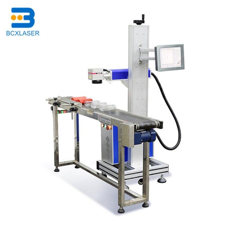 Laser Date HDPE Pipe Printing Machine Fiber 20W Online Flying Laser Marking Machine