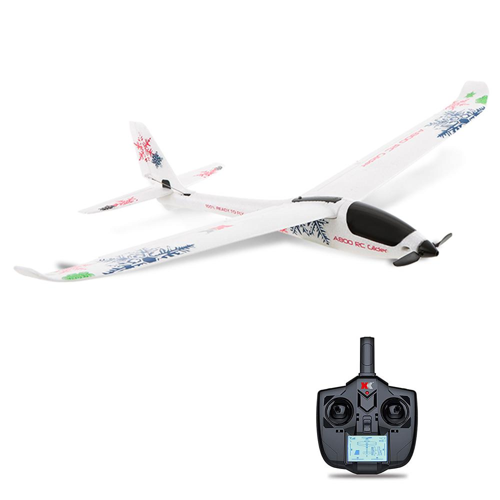 XK A800 4CH 780mm 3D6G System RC plane Compatible Futaba RTF Remove Control Glider AirPlane Children Gift Kids Toys