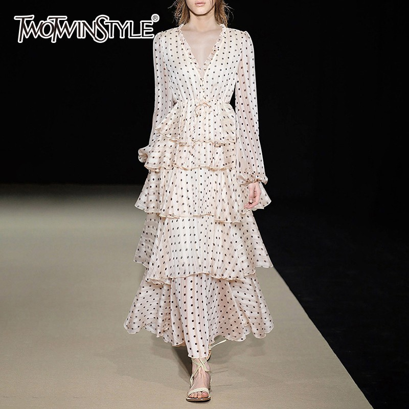 TWOTWINSTYLE Polka Dot Dress TDR17868