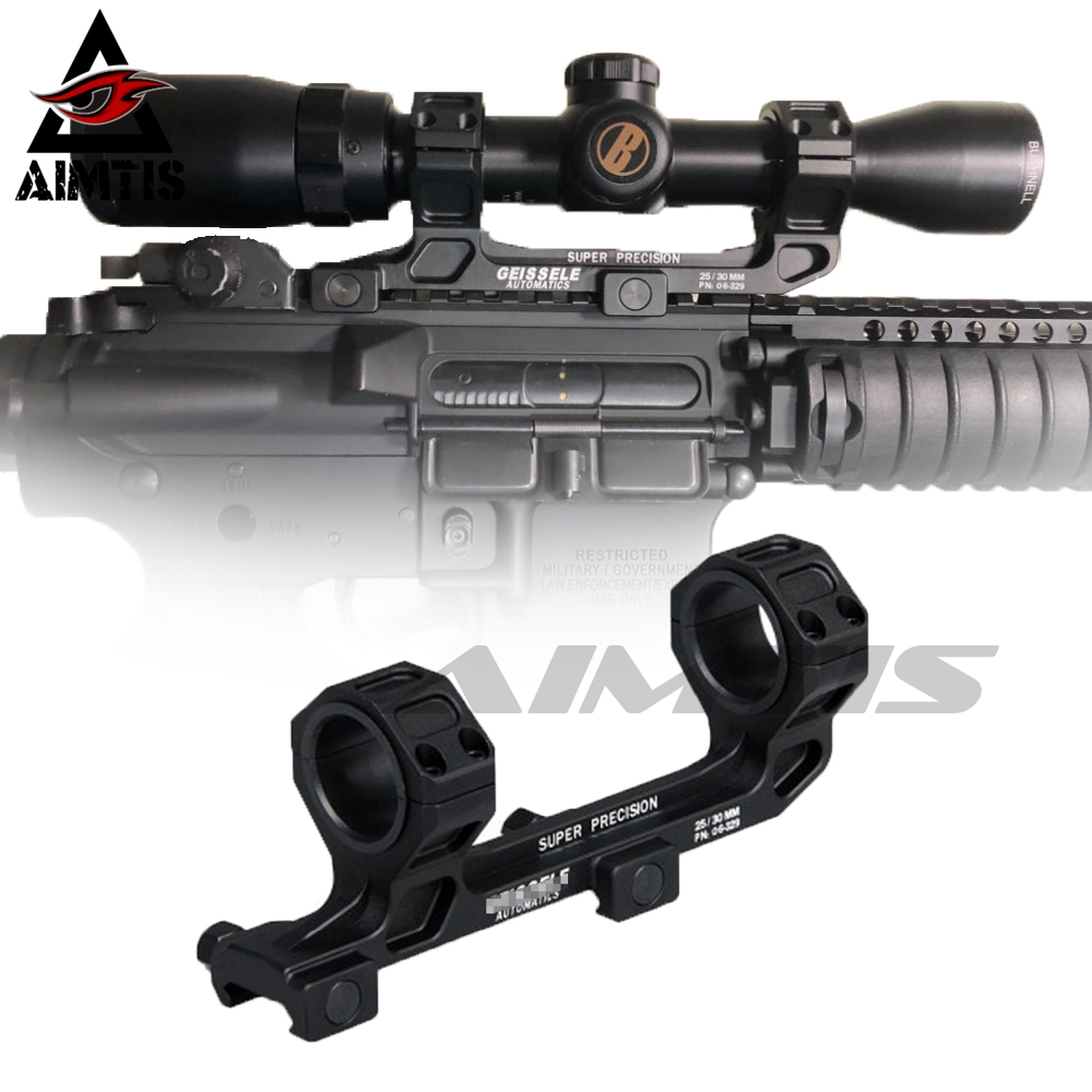 Tactical GE Automatics AR15 Scope Mount for Optical Sight Mount 25.4mm/30mm Rings Riflescope Mount NO Bubble Level For 20mm Rail