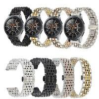 22 MILÍMETROS Faixas De Relógio de Aço Inoxidável Para Samsung Galaxy 46mm Pulseira Strap Para Samsung Engrenagem S3 Clássico/Frontier huawei Relógio 2 Pro|Pulseira do relógio| |  -