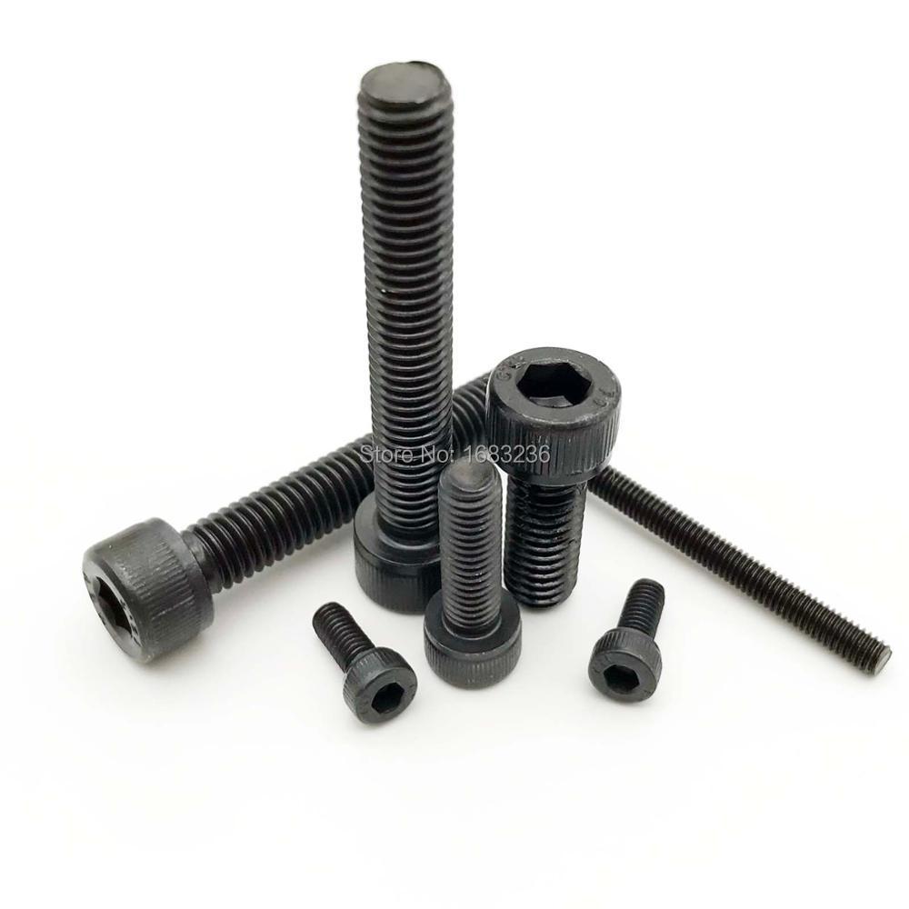 M3 x 35 mm de aleaci/ón de acero hueca hexagonal Tornillos de Cabeza de Bot/ón Negro 20 piezas