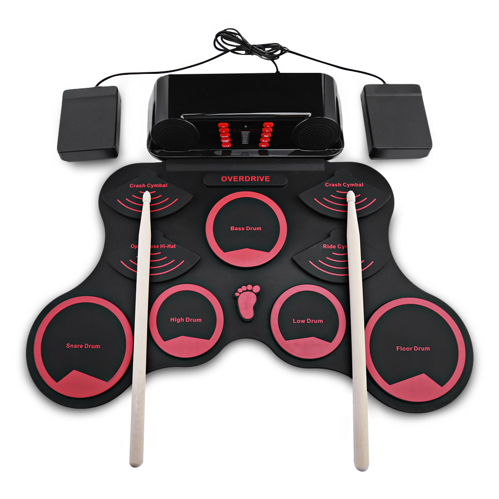 10 Pads Electronic Roll Up Drum Kit With Recording Function 9 Demo Songs