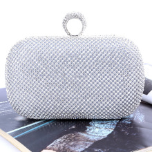 купить Luxury Evening Clutch Diamond Originality Ring Handbag Evening bag Rhinestone Wedding Party Banquet bags With Chain Shoulder Bag по цене 1972.02 рублей