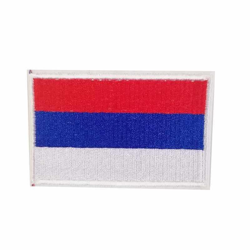 PGY 1 pièces tous les pays drapeau drapeau russe patchs brodés fer sur vêtements bricolage autocollants de vêtement Appliques accessoires Badge