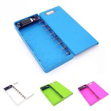 17*8*2.2cm 5V Dual USB 18650 Power Bank Battery Box Mobile Phone Charger DIY Shell Case For iphone6 Plus S6 High Quality #20