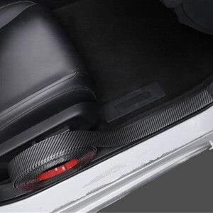 Image 3 - Hiyork molduras de borracha de fibra carbono tira suave preto guarnição pára choques protetor do peitoril da porta diy borda guarda adesivos carro estilo 1 m