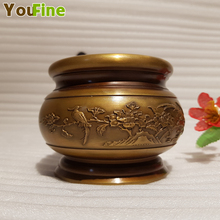 Bronze incense burner home indoor small practical ornament Buddhist office decoration sculpture