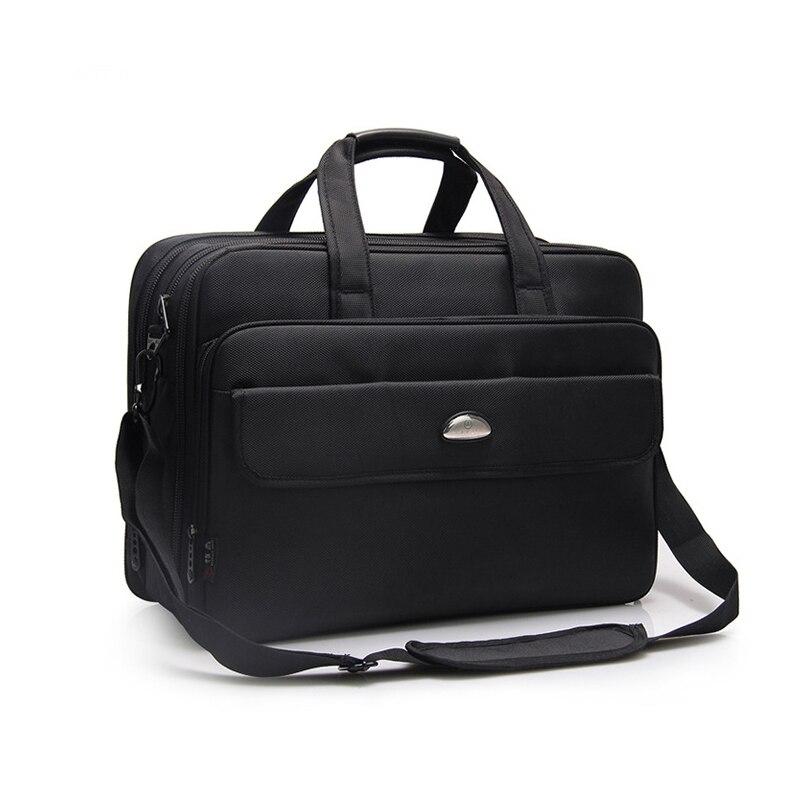 ラップトップバッグ大容量耐衝撃ビジネス旅行ブリーフケース拡張は、 17 インチコンピュータ錠ノートブック男性のためのハンドバッグ  グループ上の パソコン & オフィス からの ノートパソコンバッグ & ケース の中 1
