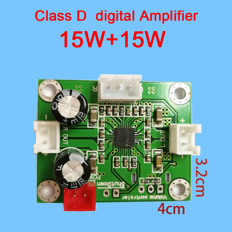 DC 5V-12V PAM8610 15W*15W Dual channel Stereo Class D Audio Amplifier AMP Board
