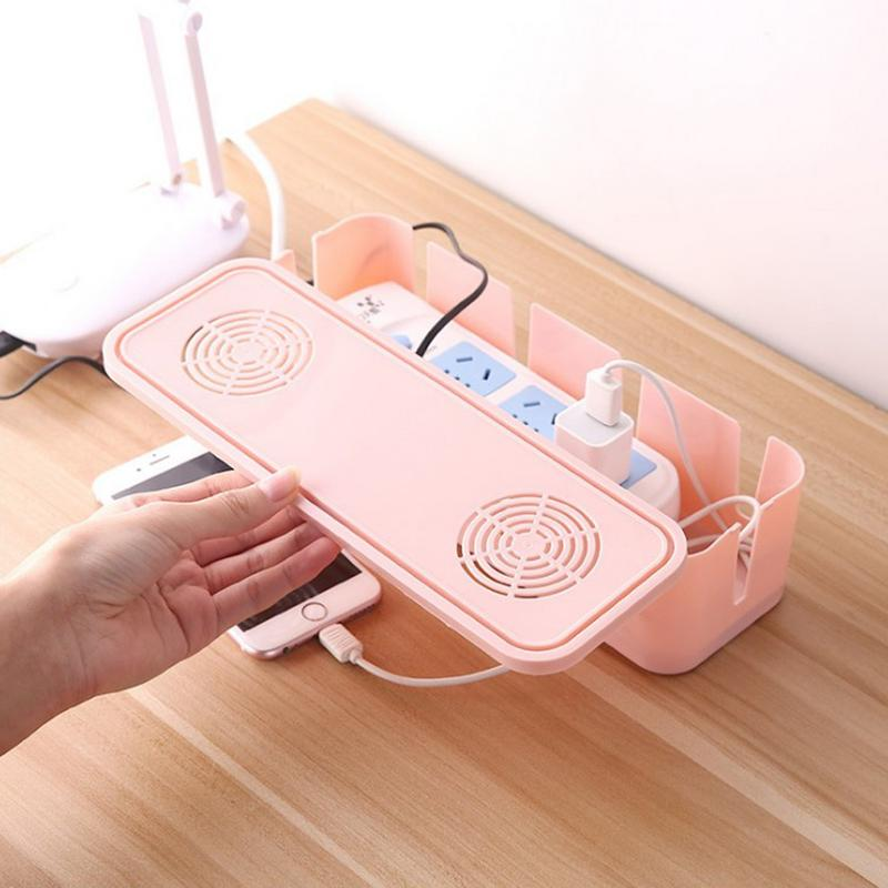 Storage-Box Cable-Container Lid-Wire-Organizer Power-Cord Safety-Socket Home-Decor Fashion