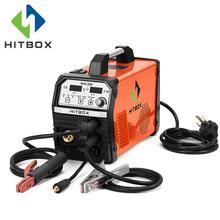 HITBOX сварочный аппарат MIG TIG Нержавеющаясталь из углеродистой стали, газовая без газосварочная машина MIG200 одноцветное/электродная проволока сварки 220 V сварщик