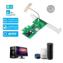 EWeLink ミニ Pci E デスクトップ Pc リモートコントロールスイッチカード WiFi ワイヤレススマートスイッチリレーモジュールワイヤレス用
