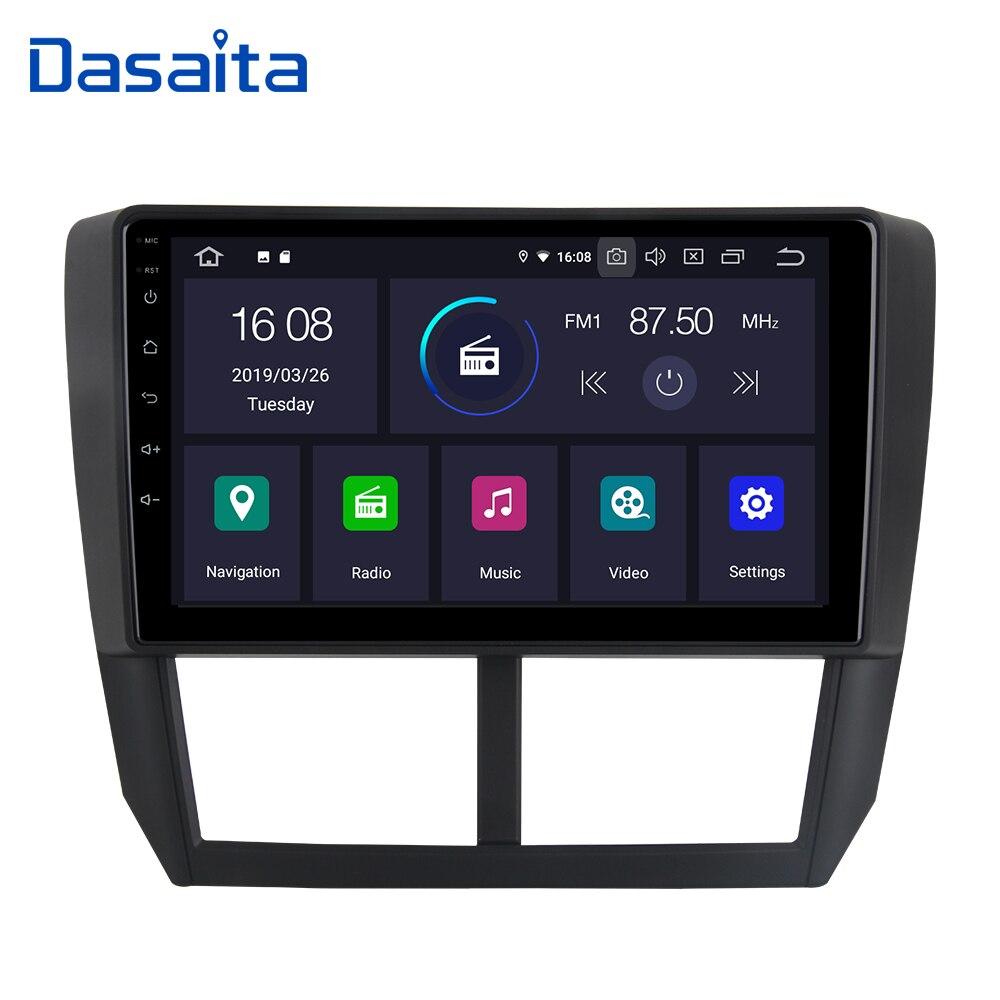 Dasaita 9 Car Radio Player Android 9 0 GPS Navigator 1 din car for Subaru Forester
