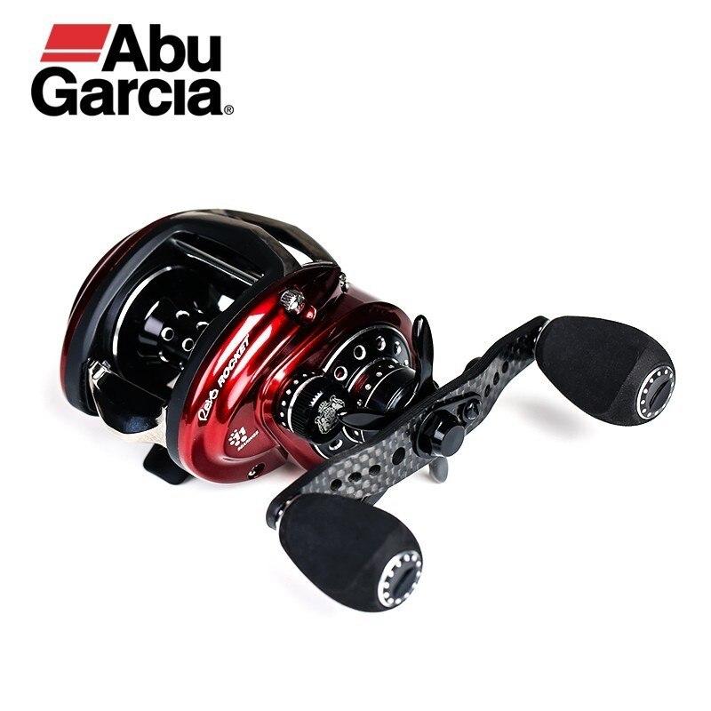 Bobine de pêche Revo Rocket Iii Baitcasting de marque Abu Garcia 10 + 1bb 9.0: 1 9 kg bobine de système de traînée à matrice de carbone à profil bas