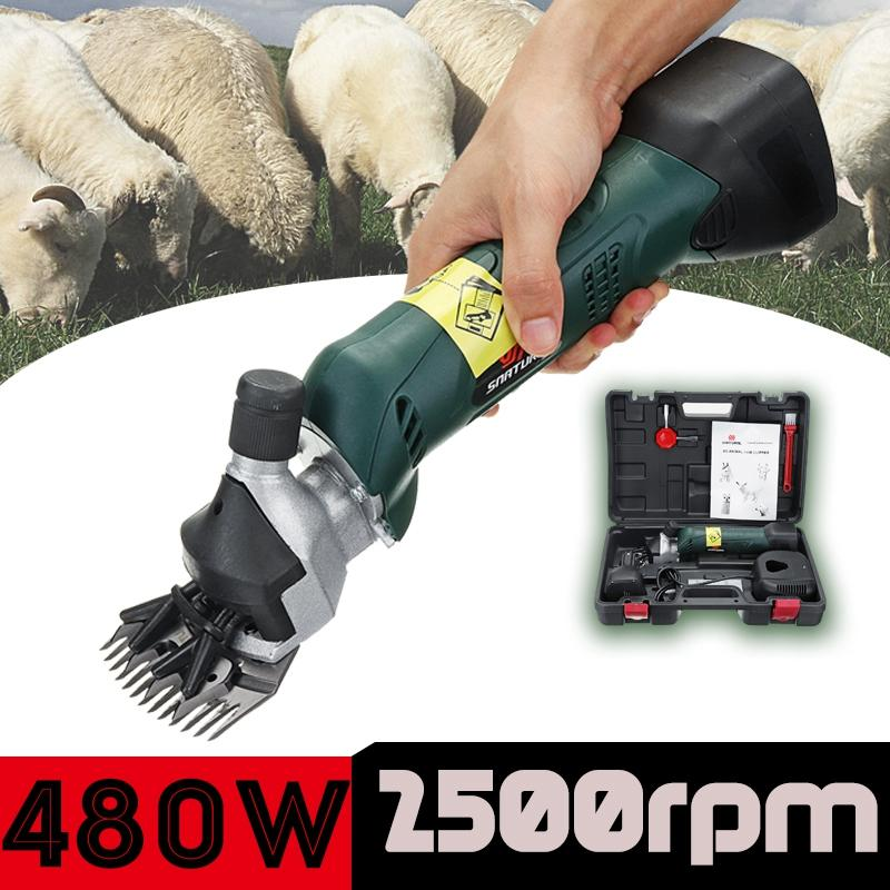 480W Rechargeable Electric Sheep Shearing Supplies Clipper Sheep Goats Alpaca Shears Wool Scissor Groomer Shaver with