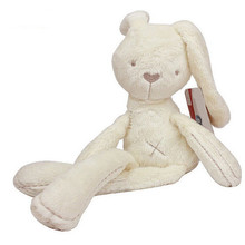 Baby kids lovely White Rabbit Rabbits Sleeping Comfort Smooth Obedient Warm Calm Doll Stuff Plush Toys For Children Kids